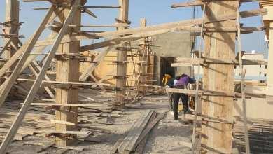 أبوسليم.. جانب من أعمال صيانة المدارس بمشروع الهضبة