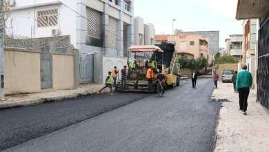 أهالي محلة المنشية في طرابلس المركز يرصفون شوارعهم
