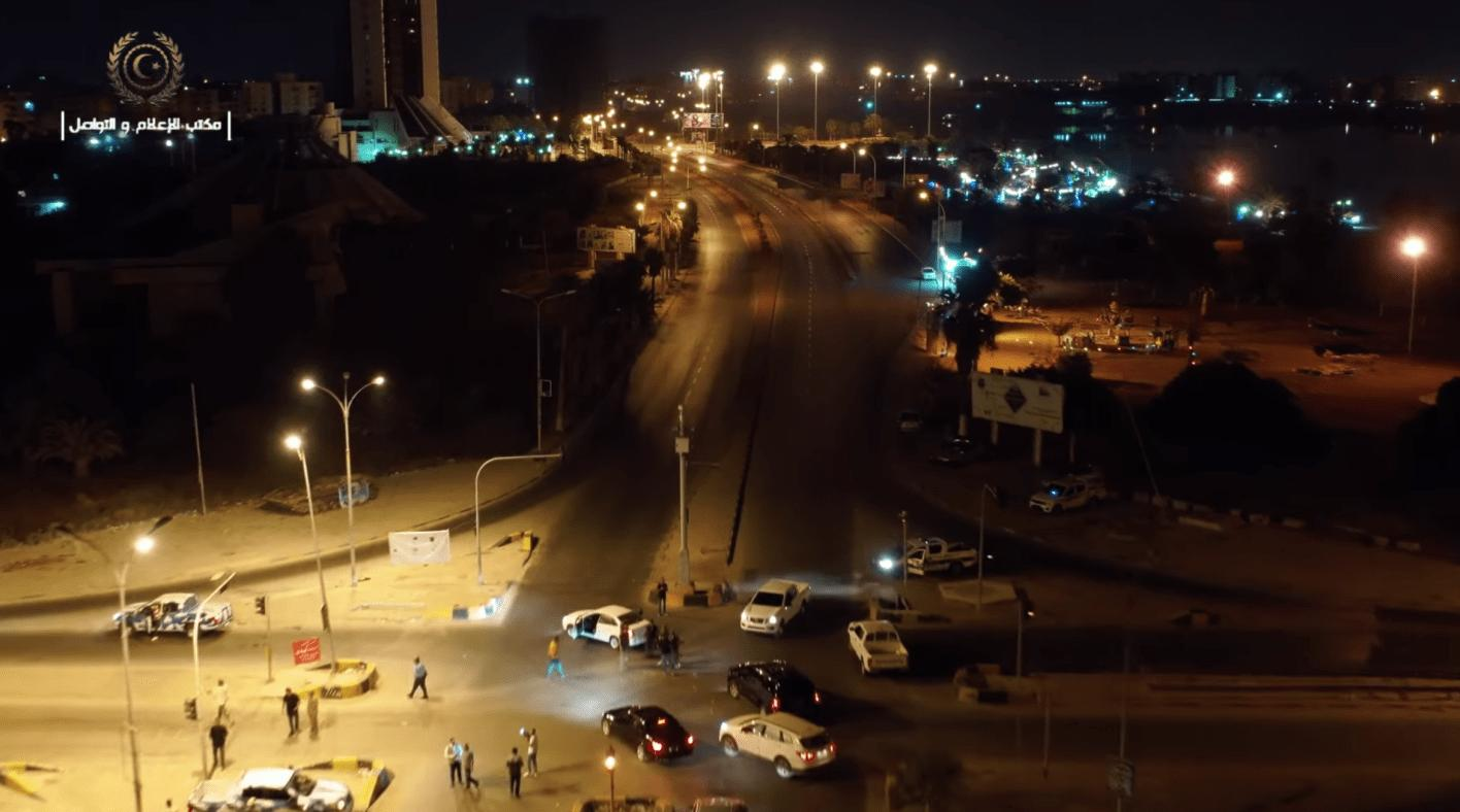 """دوريات ليلية لمديرية أمن بنغازي -""""أرشيفية"""""""
