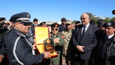 """""""بوشناف"""" يشارك في مراسم الجمع السنوي لمديرية أمن بنغازي"""