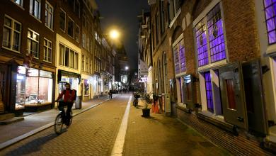 """حظر التجول في أمستردام الهولندية يناير 2021 -""""أرشيفية رويترز"""""""