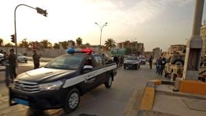 """دورية لعناصر مديرية أمن بنغازي -""""أرشيفية"""""""