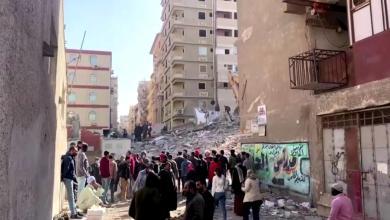 انهيار عقار في القاهرة