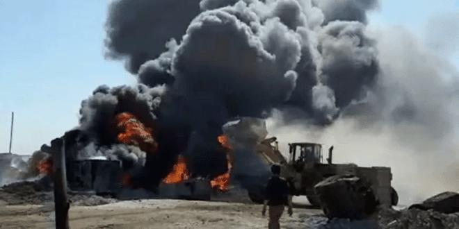 ضربات صاروخية قويّة تطال مصافي النفط شرقي حلب 4