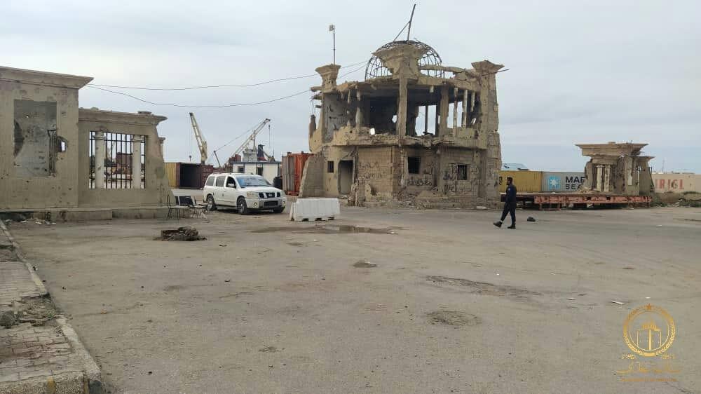 إعادة بناء واجهة ميناء بنغازي البحري
