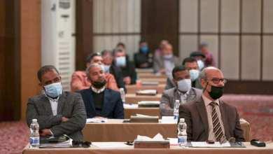 """جانب من الاجتماع الـ""""60"""" للمجلس الأعلى للدولة ومحوره مناقشة قانون الميزانية"""