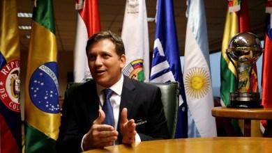 """أليخاندرو دومينغيز رئيس اتحاد أمريكا الجنوبية (الكونميبول)-""""أرشيفية"""""""
