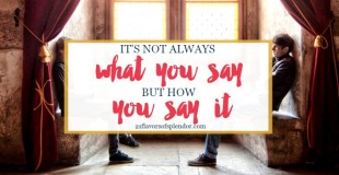 It's Not Always What You Say, But How You Say It