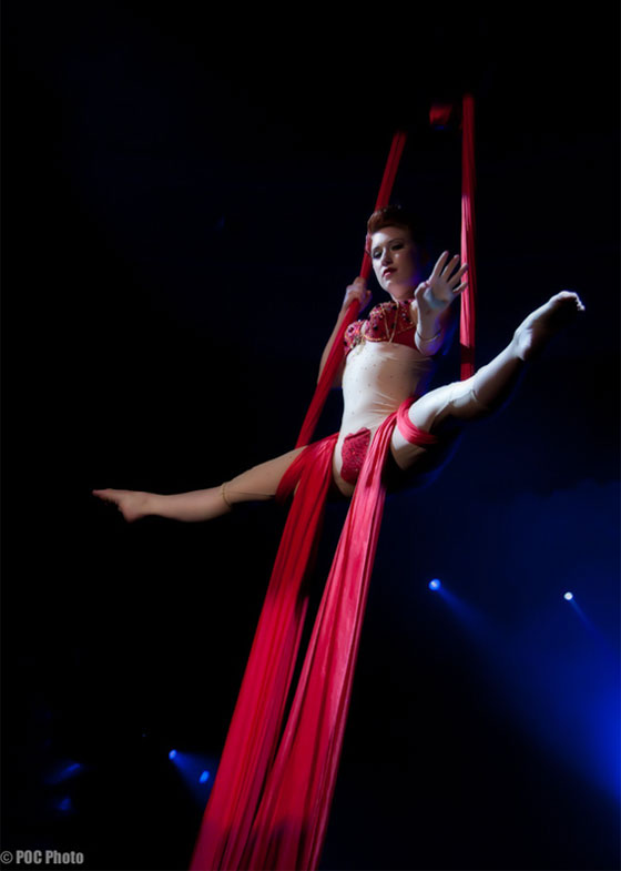 """""""Angi B. Lovely's silks routine was beautiful...""""  (©POC Photo – Please respect copyright and request permission for use.)"""
