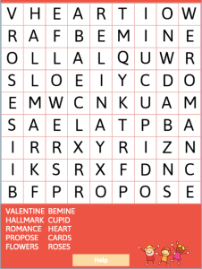 Valentine's Day Word Search