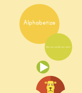 Alphabetize ABCYA Game