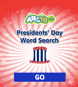 President's Day Word Search ABCYA Game
