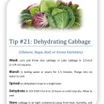 Tip 21 Dehydrating Cabbage