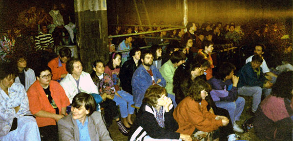 Clarks - teaching crowd