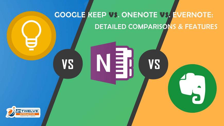 Google Keep Vs OneNote Vs Evernote: Detailed Comparisons & Features