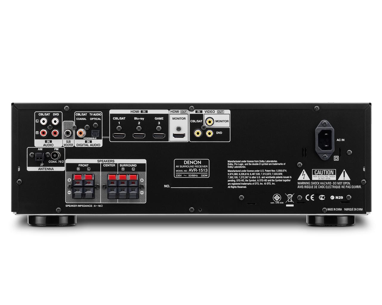 Denon AVR-1513 220 Volt AV Receiver
