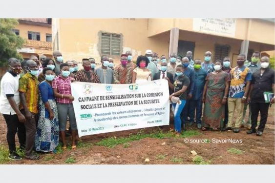 *Savoir News* : Sur les stades et dans les communautés : La jeunesse d'Agou appelée à contribuer à la préservation de la sécurité et de la bonne ambiance