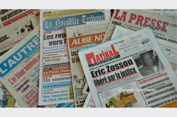 *Savoir News* : Voici les grands titres du quotidien national (La Nation) et des journaux privés en kiosques ce jeudi au Bénin
