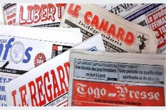 *Savoir News* : Voici les grands titres des journaux privés en kiosques ce vendredi 2 Avril 2021 au Togo