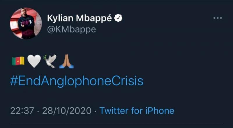 Kylian Mbappé #EndAnglophoneCrisis