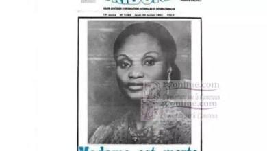 Photo of 29 juillet 1992 – 29 juillet 2019: Jeanne Irène Biya aux oubliettes – Qui s'en souvient ?