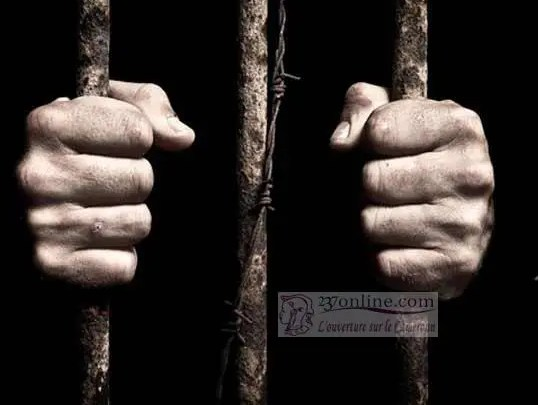 Un prisonnier enfermé