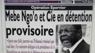Photo of Cameroun – Opération épervier: Edgard Alain Mebe Ngo'o aux arrêts
