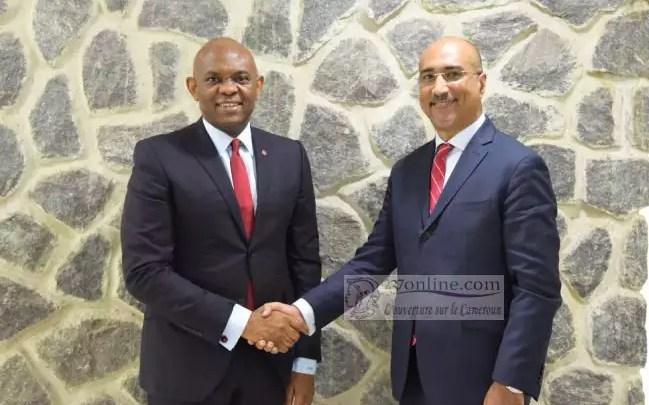 Le Président du Groupe United Bank for Africa(UBA), M. Tony O. Elumelu(CON), et le nouvel Administrateur Non Exécutif du Groupe UBA, M. Abdoul-Aziz Dia