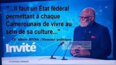 Photo of Crise anglophone/Akere Muna : « la paix reviendra par un système fédéral »