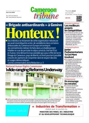 Cameroon Tribune édition du 27 juin 2018