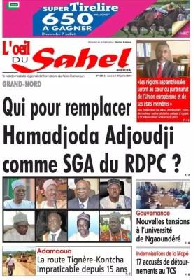 L'Oeil du Sahel du 03 juillet 2019