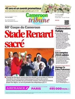 Cameroon Tribune du 01 juillet 2019