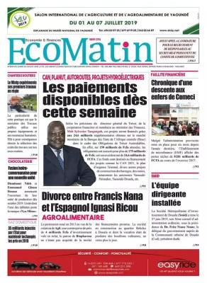 Eco Matin du 01 juillet 2019