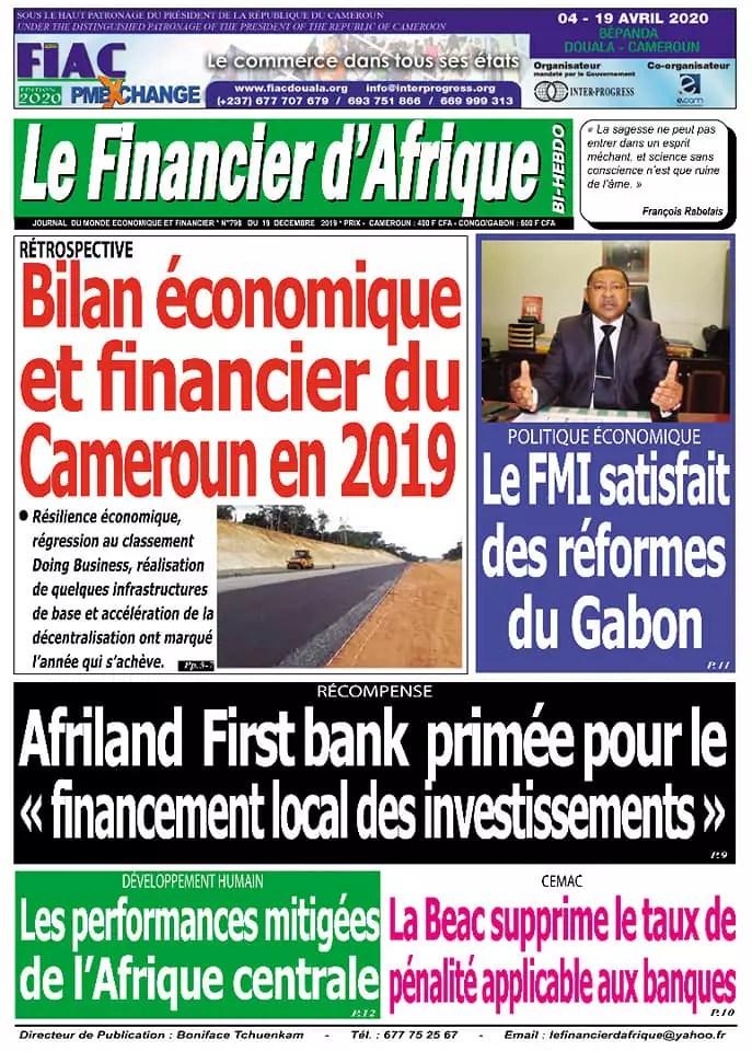 fianancier dafrique du 19 decembre 2019