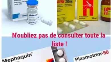 Photo of Alerte: Voici la liste des médicaments du paludisme qui tuent