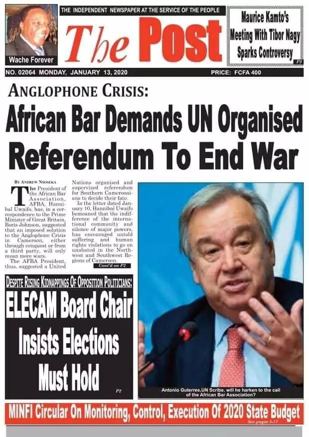 the post du 13 janvier 2020