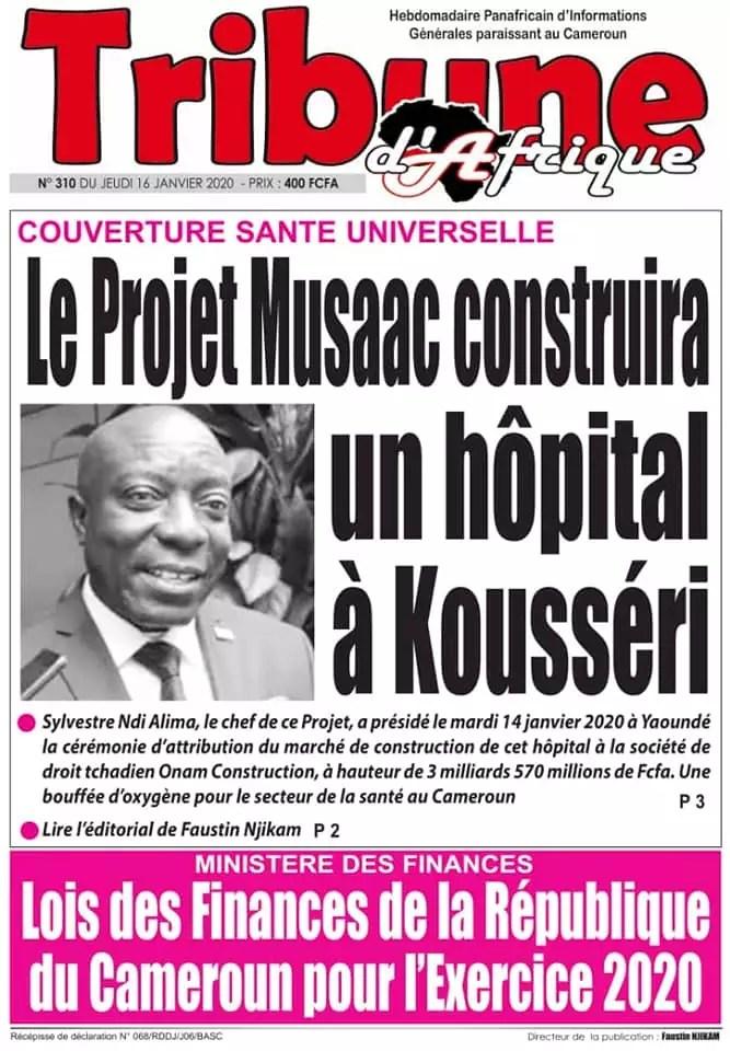 tribune dafrique du 16 janvier 2020