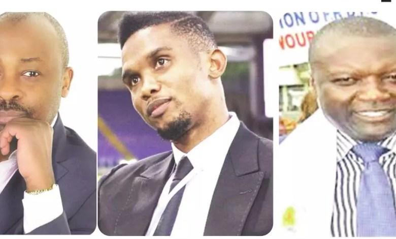 Alain Foka, Samuel Eto'o et Sylvestre Ngouchinghe