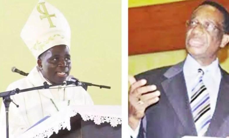 Mgr Zoa et Martin Belinga Eboutou