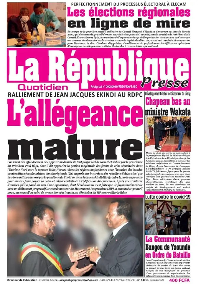 la republique presse du 04 mai 2020