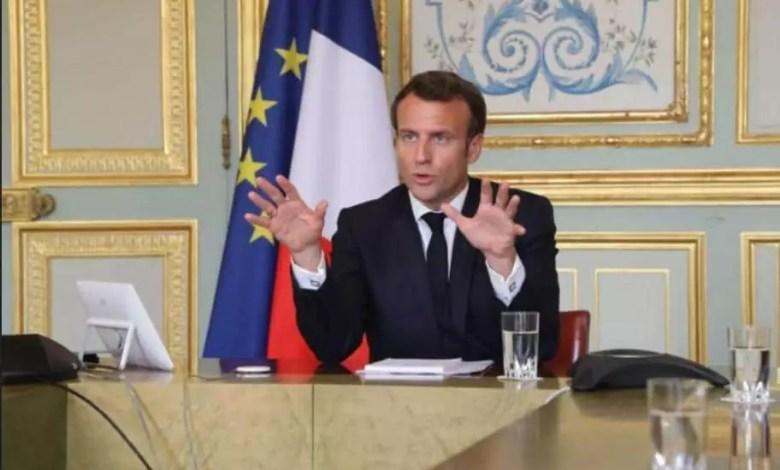Emmanuel Macron qui parle