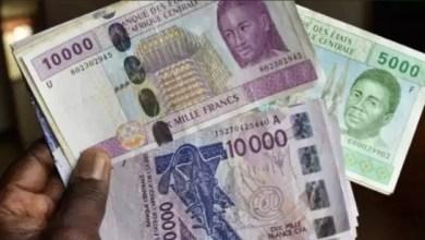 Billet de banque Fcfa