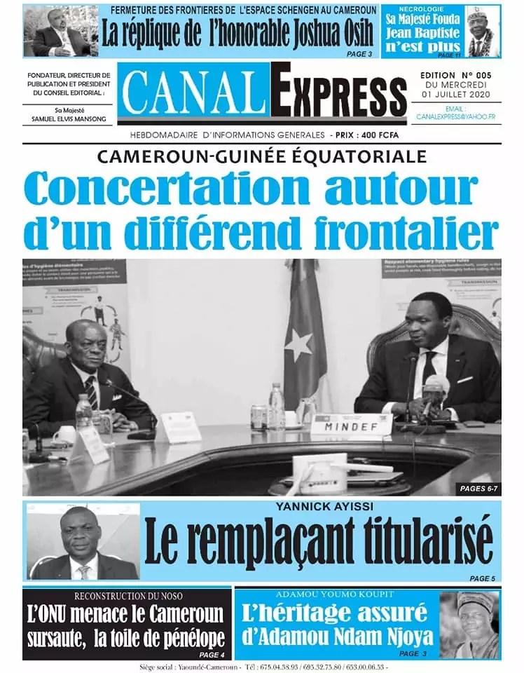 canal express du 01 juillet 2020