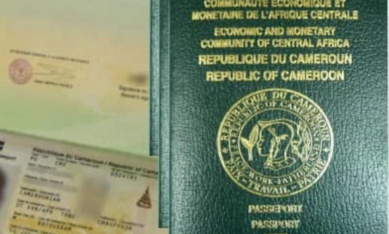 Modele d'un passeport camerounais