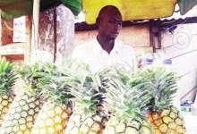 Un vendeur de jus de fruit naturel