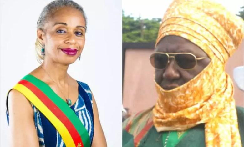 Mbombo Njoya et le maire de Foumban