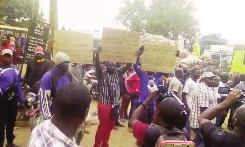 Une grève dans un marché