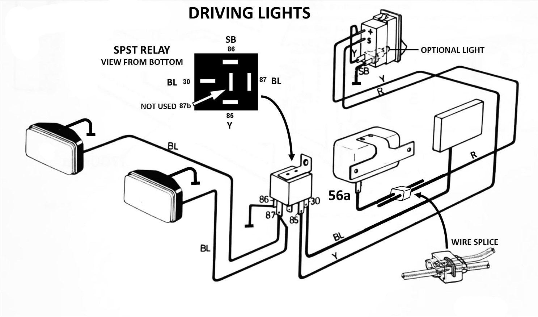 driving light wiring plan