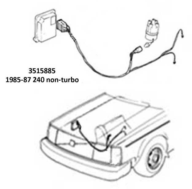 volvo 240 radio wiring diagram 87 yamaha warrior 350 harness dave u0027s page engine wire harnessesvolvo 1985 88 ignition