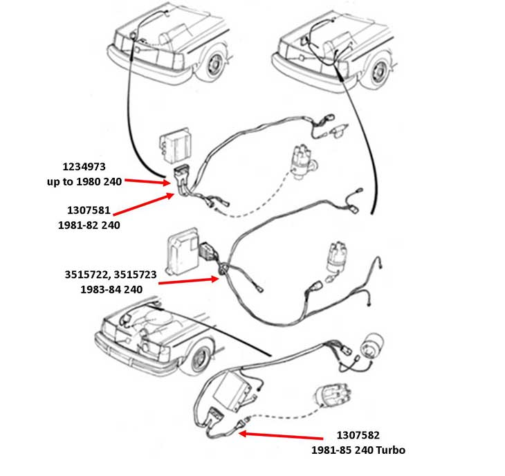 volvo 240 radio wiring diagram hyperstart dual battery kit harness dave u0027s page engine wire harnessesvolvo ignition